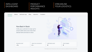 Dashboard shows product performance insights and key metrics