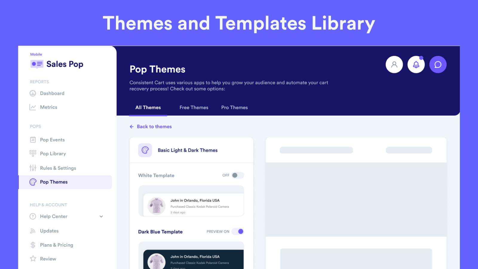 Themes and Templates Library