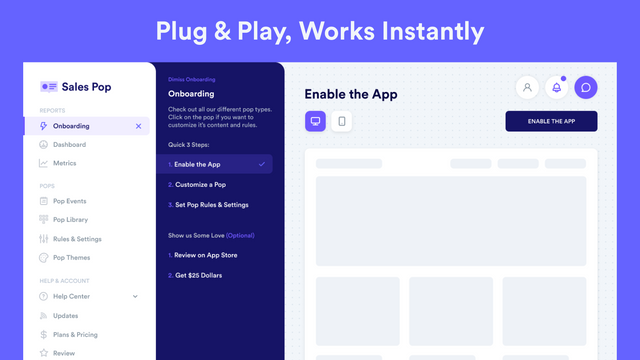 Plug & Play, Works Instantly