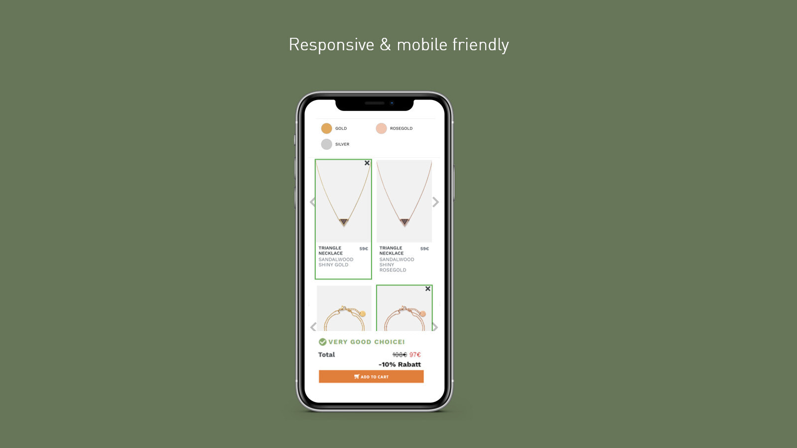 Responsive and mobile friendly.