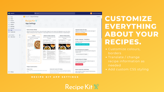 Change the colours, borders, and add custom CSS to your recipes