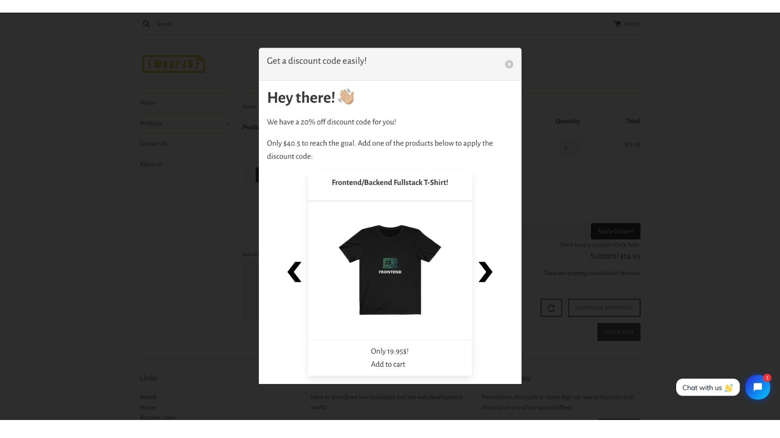 Awesome popup will make awesome upsell