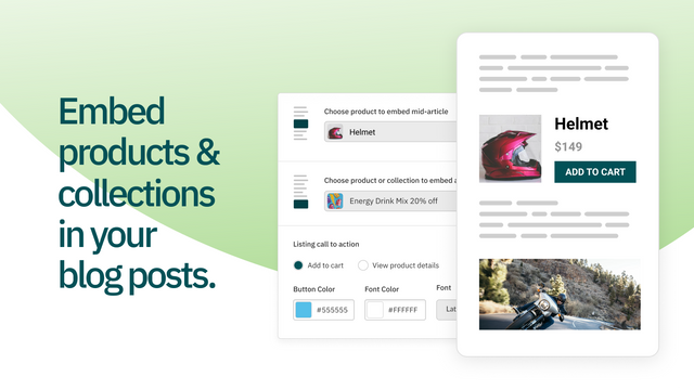 Drive sales from content by embedding dynamic product listings