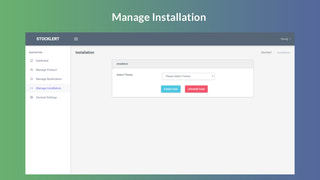 Manage Installation