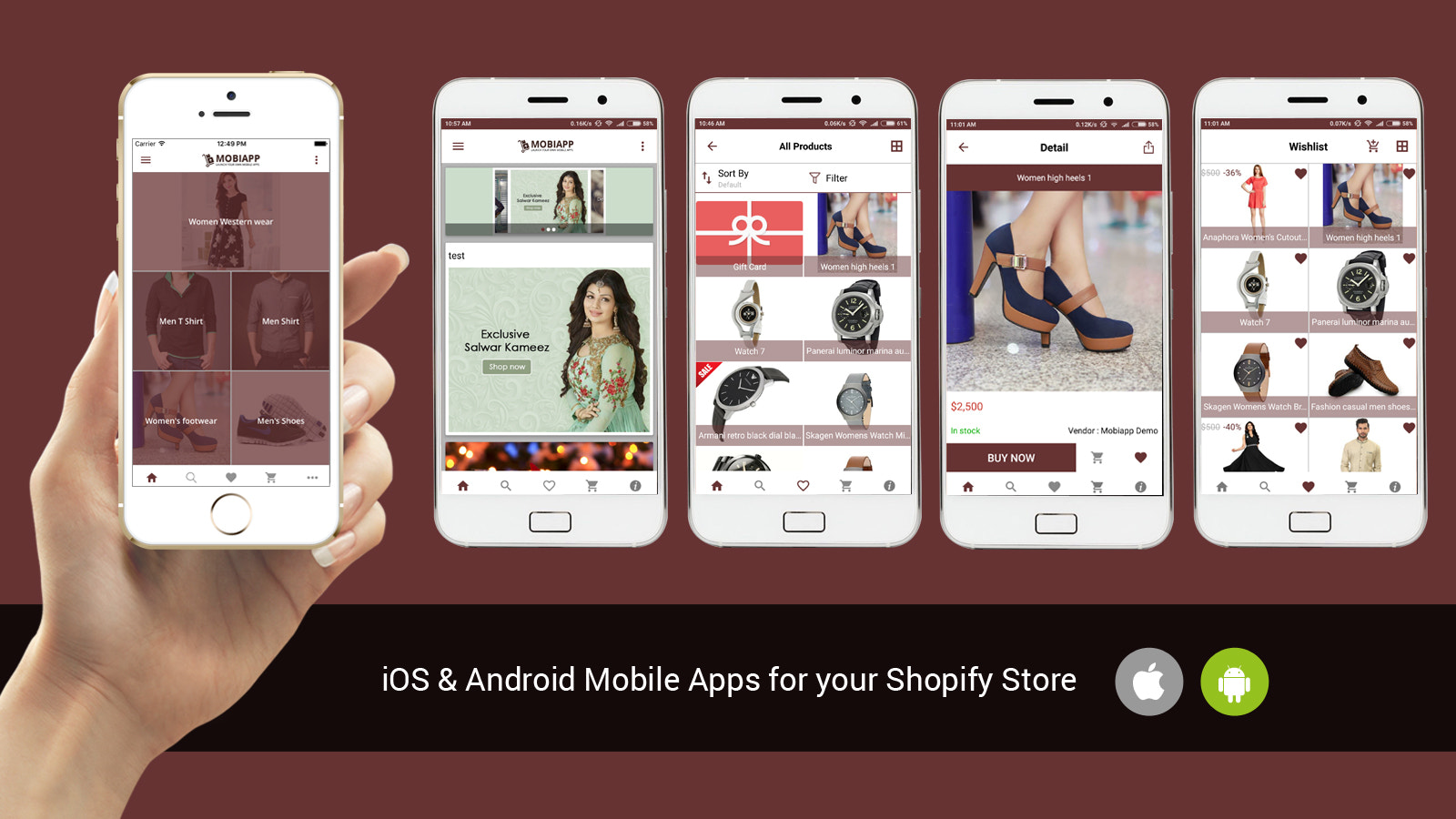 ios and android mobile application for your shopify store