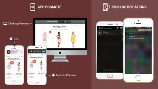 app promote on website and unlimited push notifications