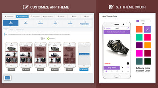 customize app theme, app theme color and many other options