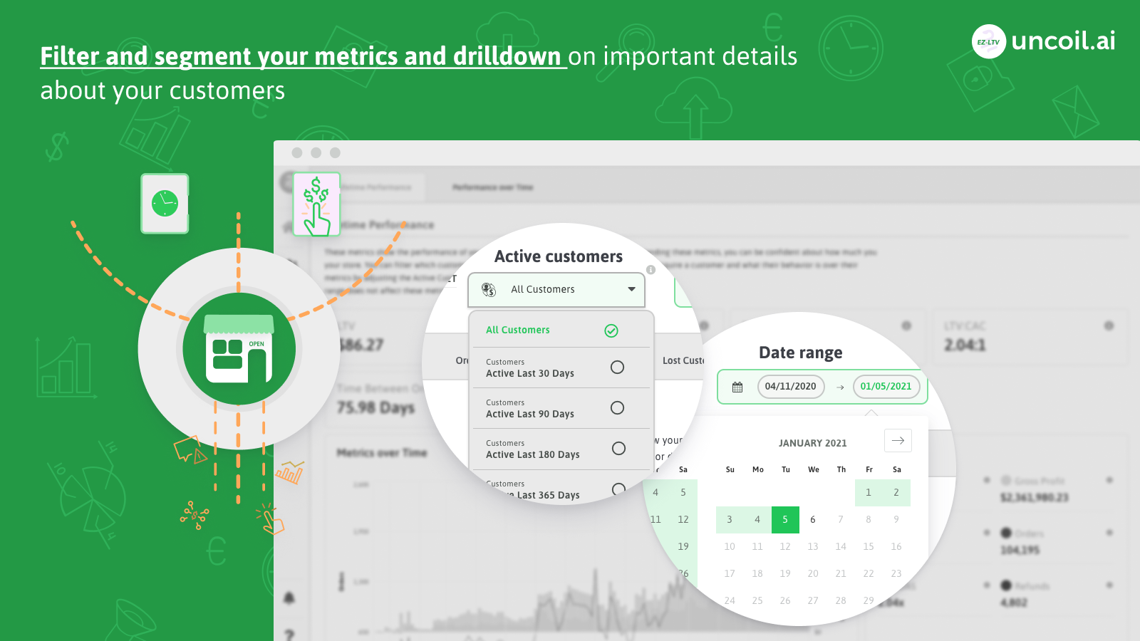 Filter and segment your metrics and drilldown on important data