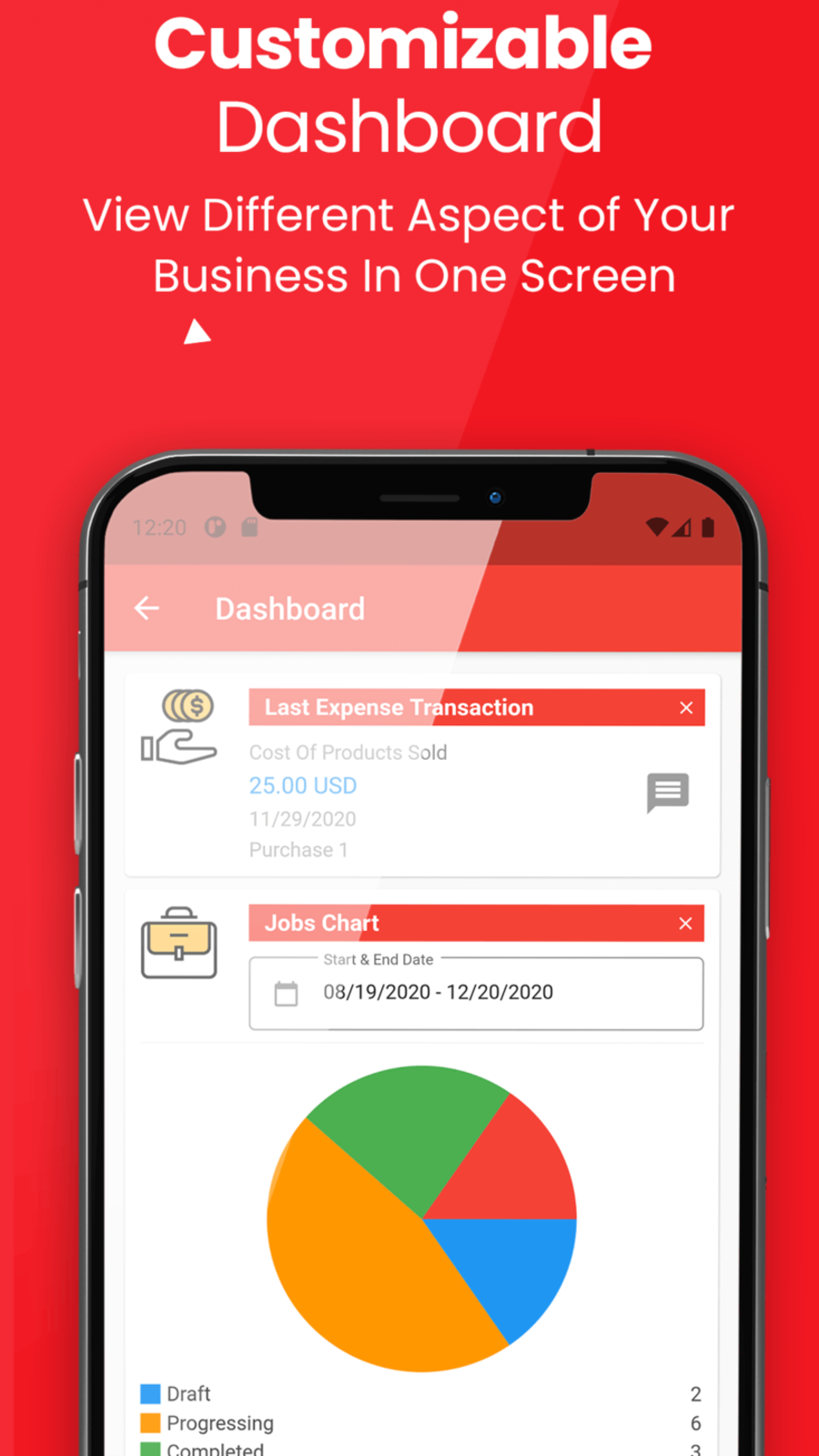 Watch your business closely. Fun to use customizable Dashboard