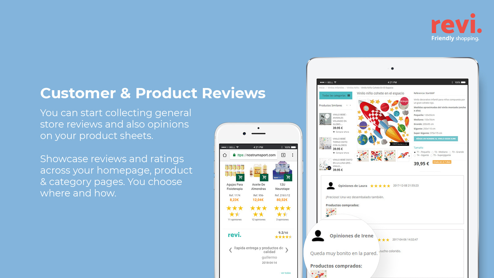 Product and Customer Reviews