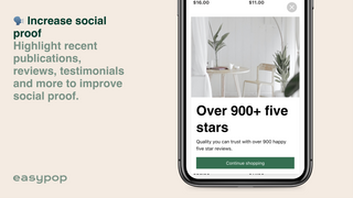 Use Easypop to improve social proof
