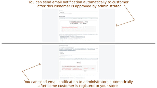 Automatic mail to approved user or admin after user registration