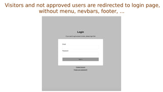 All not validated customers are redirected to login form