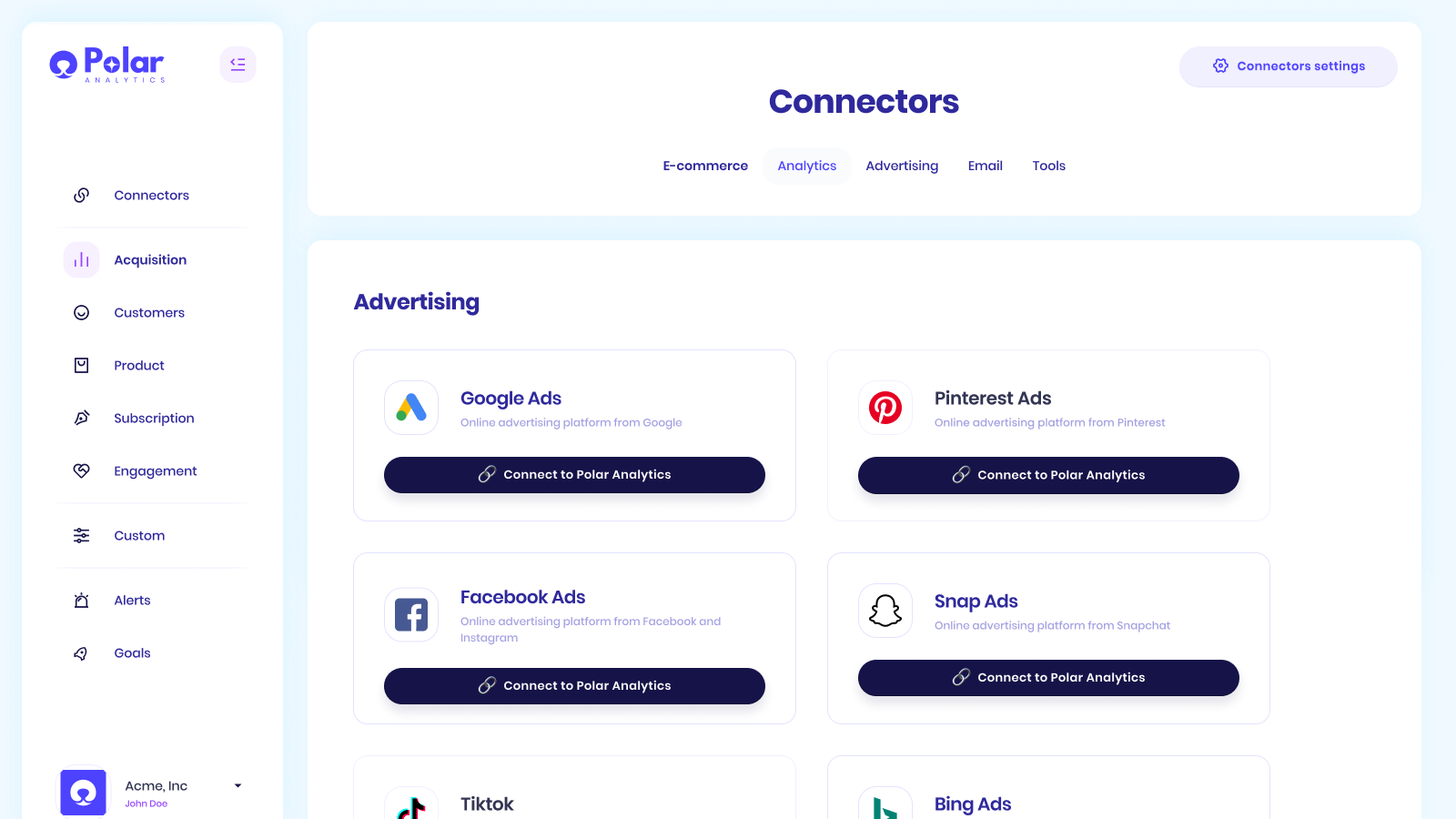 Connect Shopify, Recharge, Facebook, Google Ads together