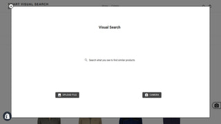 Visual Search Modal in Storefront