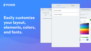 Customize your Hit Counter colors, fonts, and more.