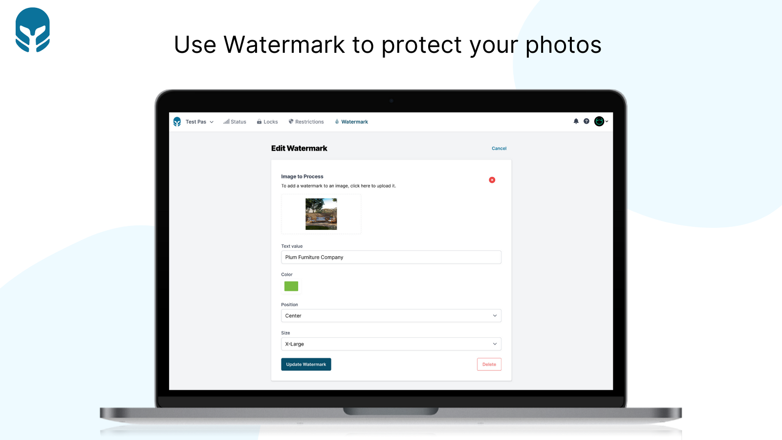 Use Watermark to protect your photos - Cybarmor