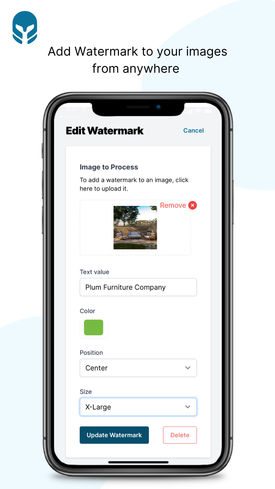 Add Watermark to your images from anywhere - Cybarmor