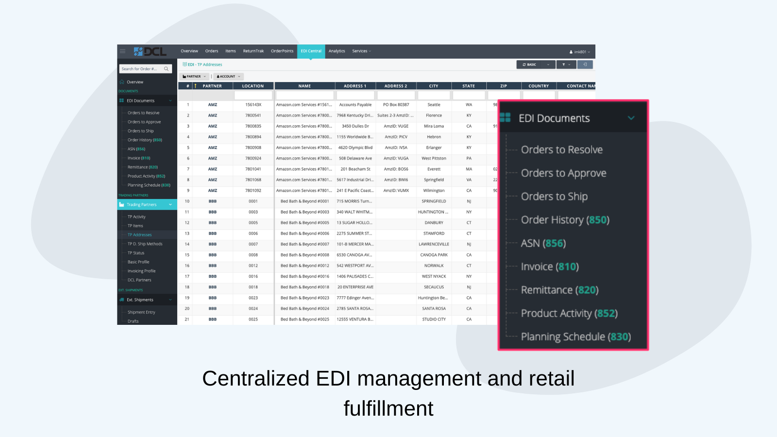 Retail fulfillment and EDI management