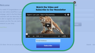 GetResponse popup with video content