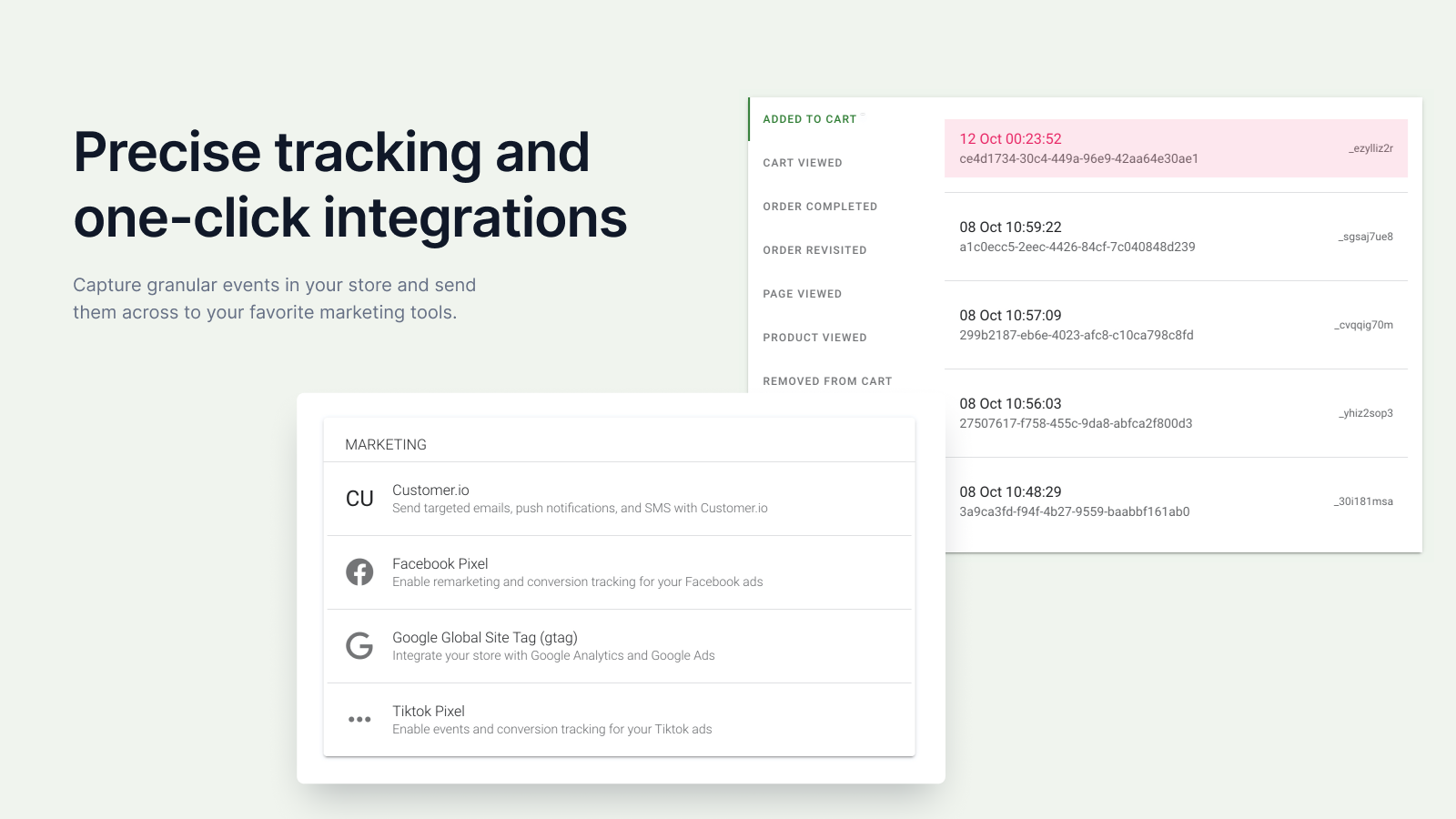 Tracking and integrations