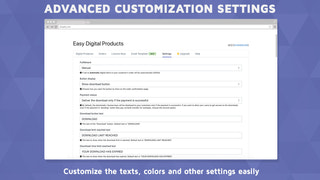 Customize the texts, colors and other settings easily!