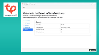 Keep trace of the last export in a dedicated tab