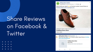 Share reviews on Facebook & Twitter