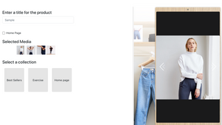Select the products / collections to publish