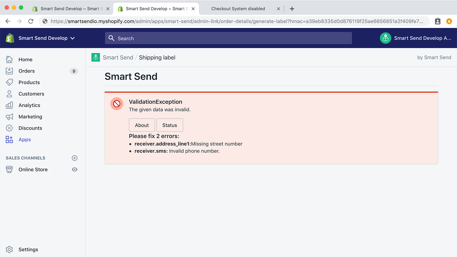 Detailed error messages explains exactly what and how to fix