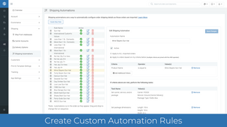 Create powerful automation rules to process orders faster.