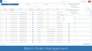 Manage and process orders in batches.