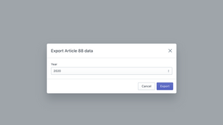 Choose the year for the data export