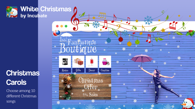 Choose among ten different Christmas songs