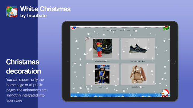 The animations are smoothly integrated into your store