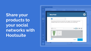 Share your products to your social networks with Hootsuite