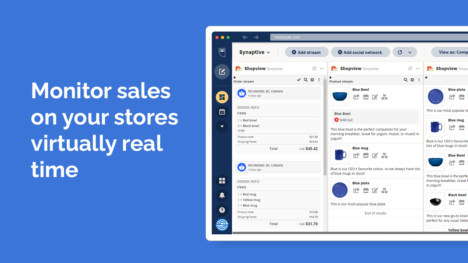 Monitor your store for new sales real-time