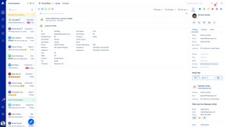 Customers information in Acquire dashboard