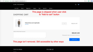 Skip the cart page