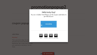 coupon popup