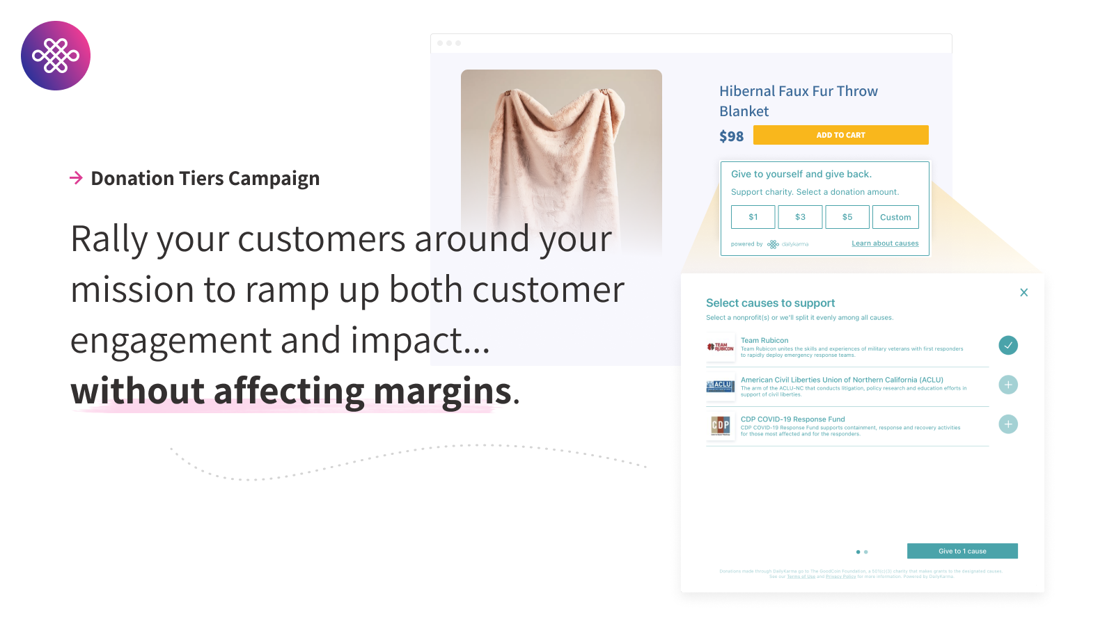 Run different types of customer donation campaigns