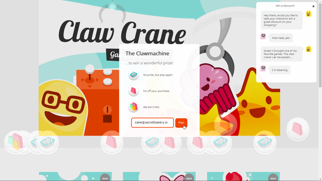 Build your email list with Claw Crane & Mailchimp.