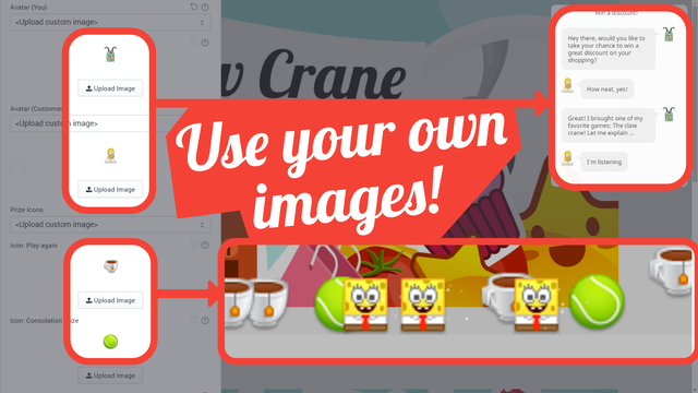 Use your own images within the game.