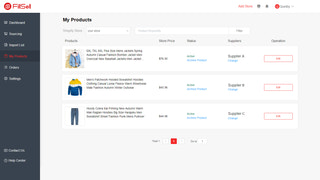 View all products pushed to your Shopify