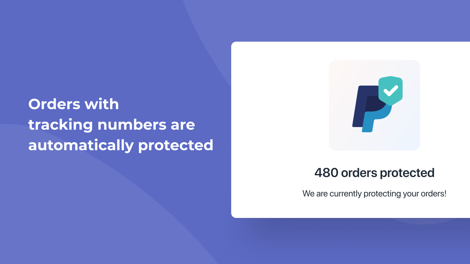 Orders with tracking numbers automatically protected.
