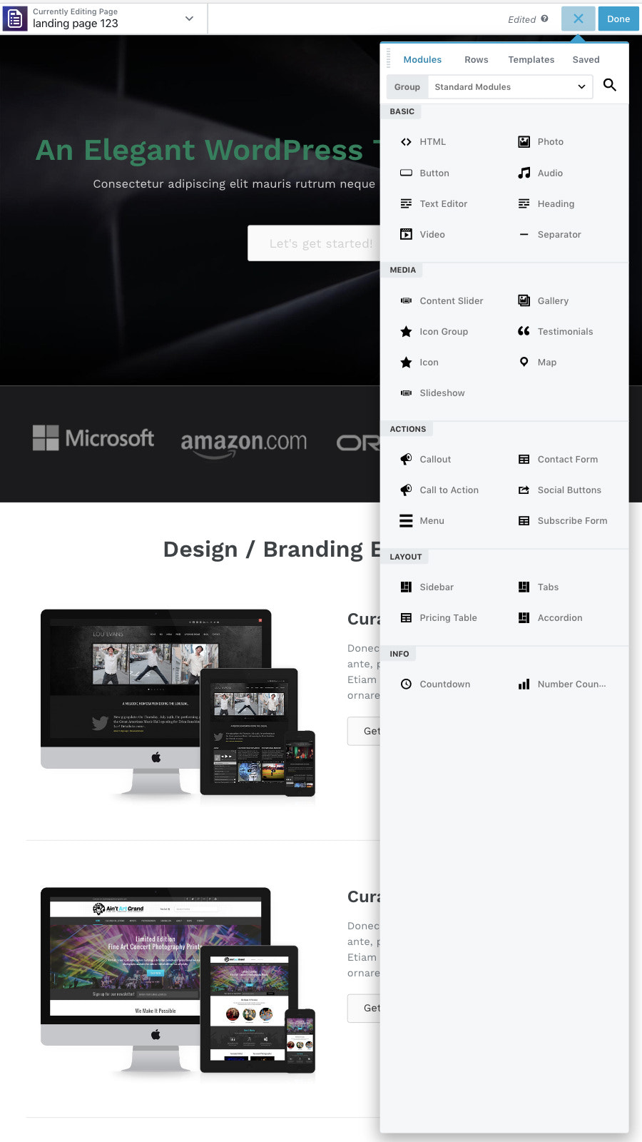 Page builder - preview