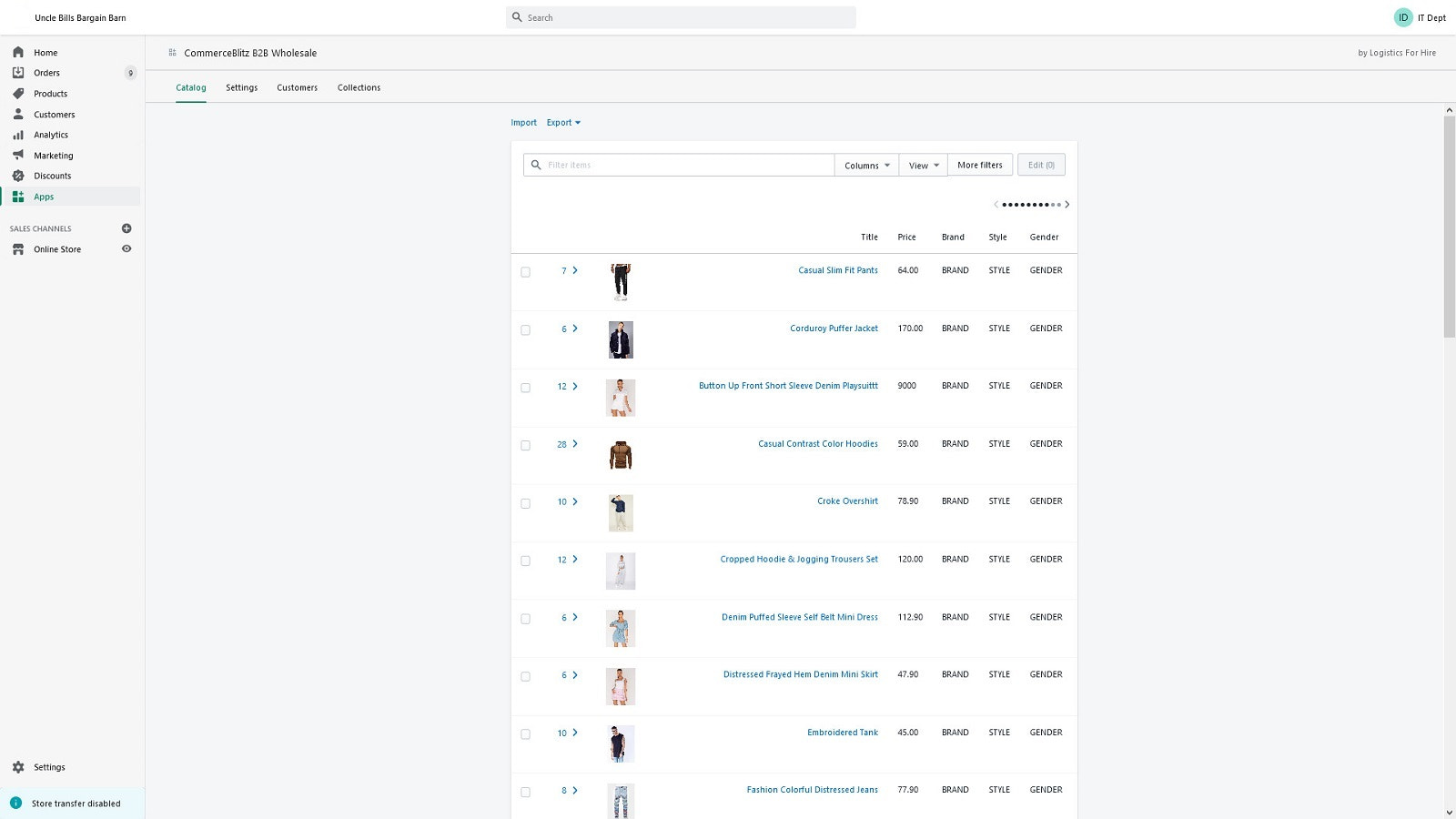 Product Catalog Manager