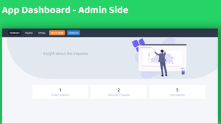 Dashboard and Insights page for for Product Inquiry on WhatsApp