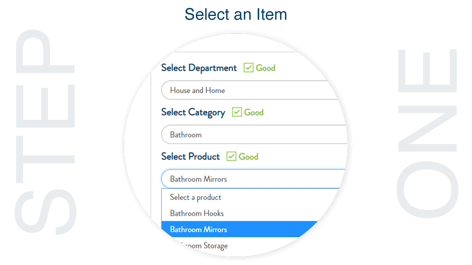 Select Relevant Product Category
