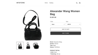 Product on Storefront view